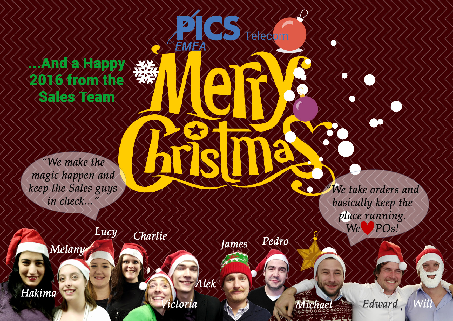PICS Telecom UK Christmas Card Sales